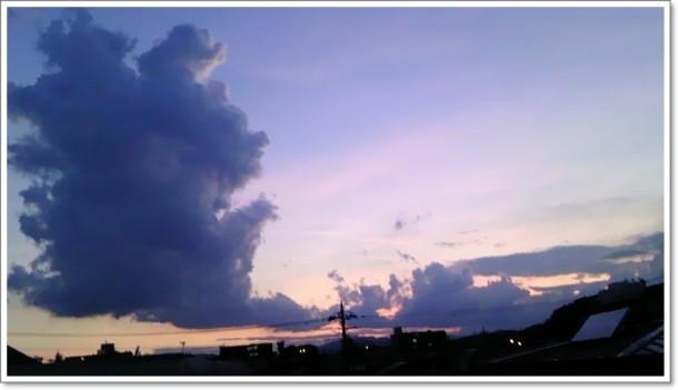 夏の空 夕焼け