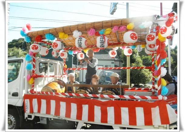 上根神社のお神輿とお囃子