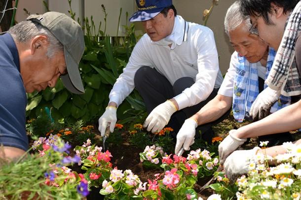 園芸ボランテイア、町田東ロータリーの皆様