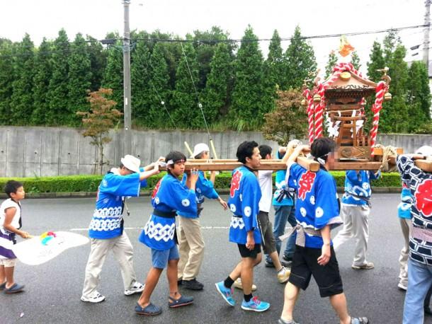 上根神社のお祭りに参加