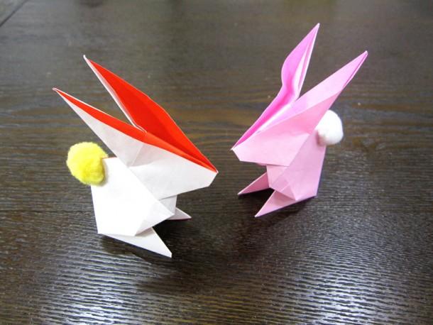 折り紙講座 ~うさぎとおぼんを作ろう~