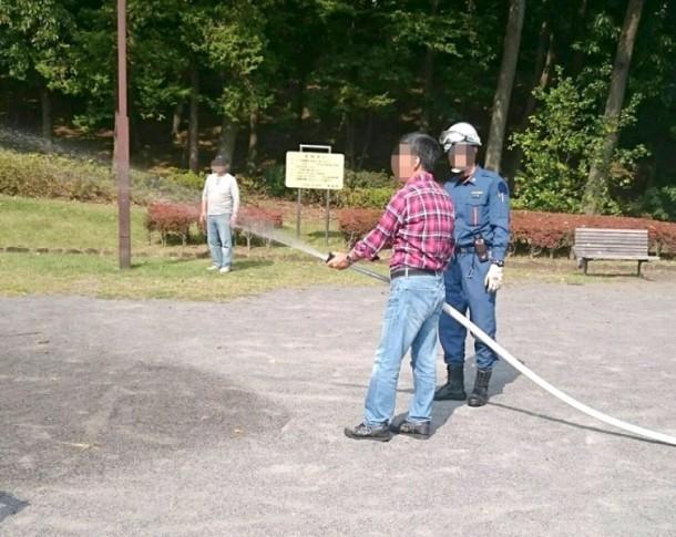 清住平自治会の防災訓練